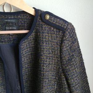 TALBOTS // Metallic Tweed Blazer